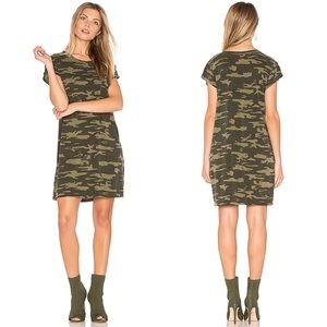 Sanctuary Camo Print Jersey Knit T-Shirt Dress